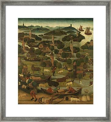 The Saint Elizabeth's Day Flood, Master Of The St Framed Print by Litz Collection