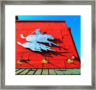 The Saloon Framed Print by Chris Berry