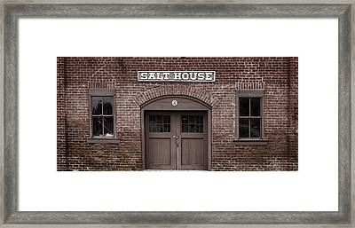 The Salt House Framed Print by Heather Applegate