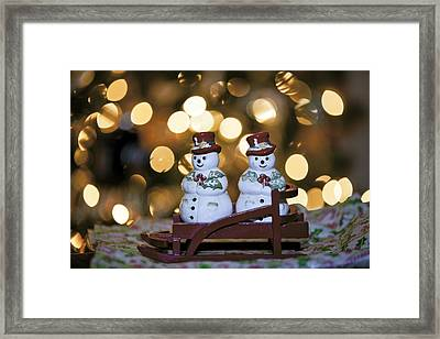 The Salt To My Pepper Framed Print by Edward Kreis