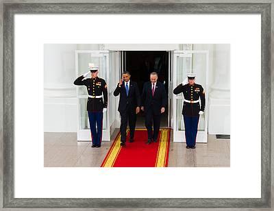 The Salute Framed Print