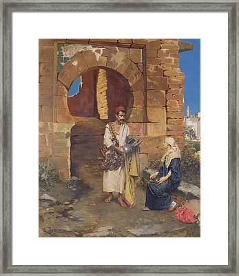 The Samaritan Framed Print by Rudolphe Ernste