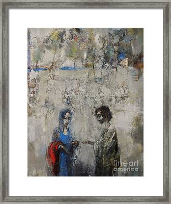 The Samaritan Woman At The Well Framed Print
