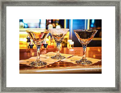 The Martini Sampler Framed Print by Rene Triay Photography