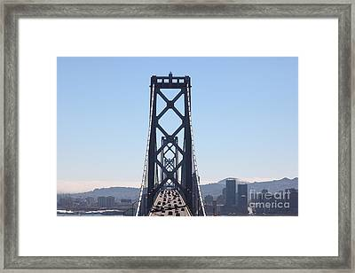 The San Francisco Bay Bridge Into The City 5d25419 Framed Print by Wingsdomain Art and Photography