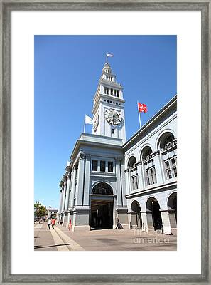 The San Francisco Ferry Building 5d25381 Framed Print