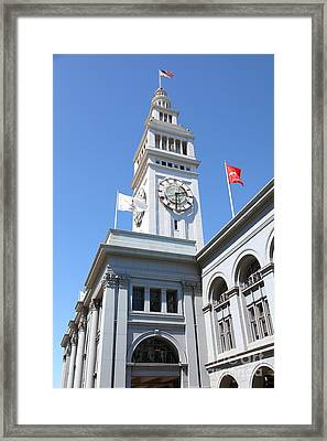 The San Francisco Ferry Building 5d25382 Framed Print