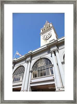 The San Francisco Ferry Building 5d25385 Framed Print