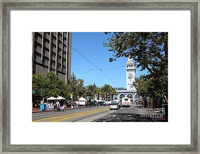 The San Francisco Ferry Building 5d25388 Framed Print