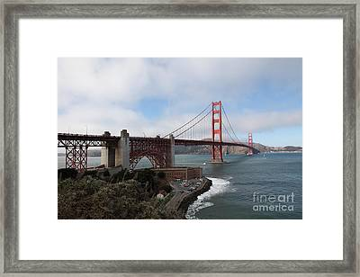 The San Francisco Golden Gate Bridge - 5d18909 Framed Print by Wingsdomain Art and Photography