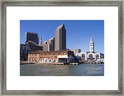 The San Francisco Skyline And Ferry Building Dsc1784 Framed Print