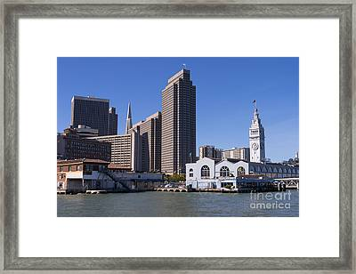 The San Francisco Skyline And Ferry Building Dsc1789 Framed Print
