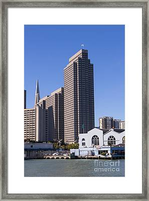The San Francisco Skyline And Ferry Building Dsc1798 Framed Print