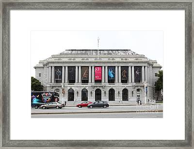 The San Francisco War Memorial Opera House - San Francisco Ballet 5d22478 Framed Print by Wingsdomain Art and Photography