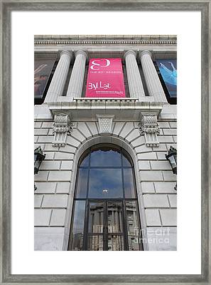 The San Francisco War Memorial Opera House - San Francisco Ballet 5d22582 Framed Print by Wingsdomain Art and Photography