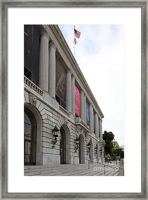 The San Francisco War Memorial Opera House - San Francisco Ballet 5d22585 Framed Print by Wingsdomain Art and Photography