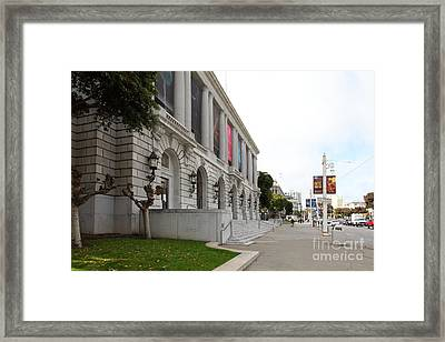 The San Francisco War Memorial Opera House - San Francisco Ballet 5d22586 Framed Print by Wingsdomain Art and Photography