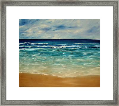 The Sand And The Tide Framed Print by Lisa Aerts