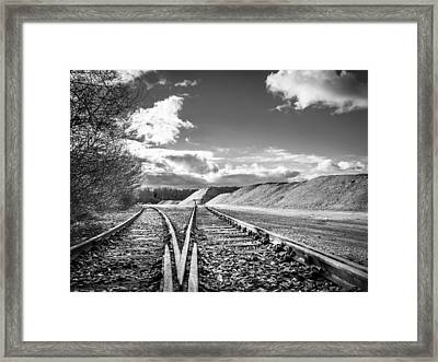 Framed Print featuring the photograph The Sand Quarry Tracks. by Gary Gillette