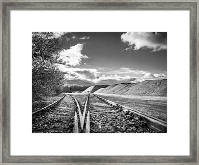 The Sand Quarry Tracks. Framed Print