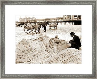 The Sandman, Atlantic City Framed Print by Litz Collection