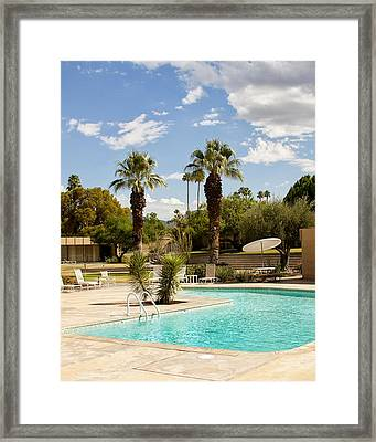 The Sandpiper Pool Palm Desert Framed Print by William Dey