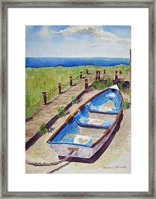 The Sandy Boat Framed Print