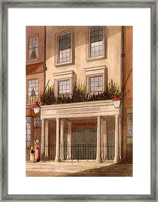 The Sans Pareil Theatre, 1826 Framed Print by Daniel Havell