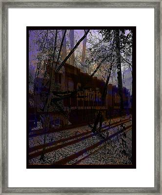 Framed Print featuring the digital art The Santa Fe by Cathy Anderson