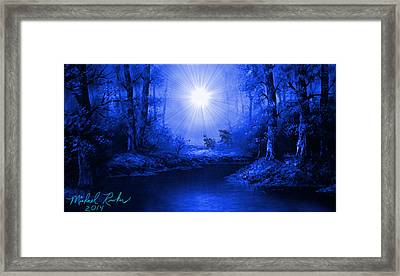 The Sapphire Forest Framed Print