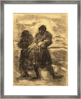 The Savior Framed Print by Helena Bebirian