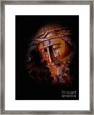 The Savior Weeps Framed Print by Al Bourassa