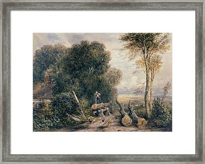 The Saw Pit Framed Print by David Cox