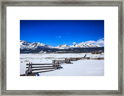 The Sawtooth Mountains Framed Print