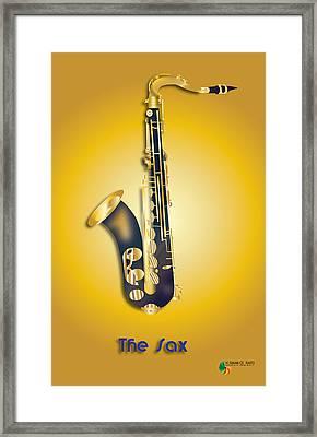 The Sax Framed Print by Herman Cerrato