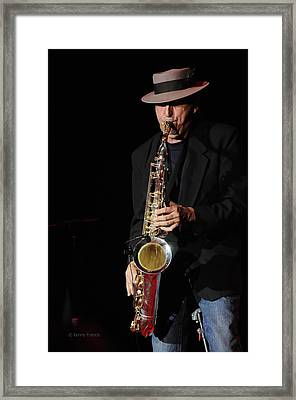 The Sax Man Framed Print by Kenny Francis