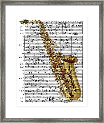 The Saxophone Framed Print