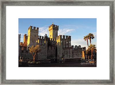 The Scaliger Castle In Sirmione Framed Print by Kiril Stanchev