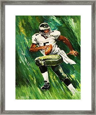 The Scambling Quarterback Framed Print