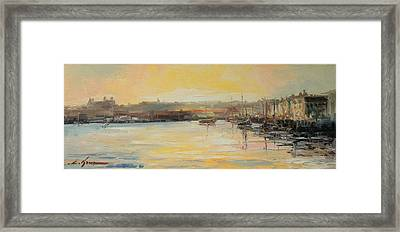 The Scarborough Harbour Framed Print
