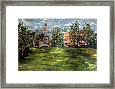 The Scarlet And The Brown On A Cloudy Day In July Framed Print