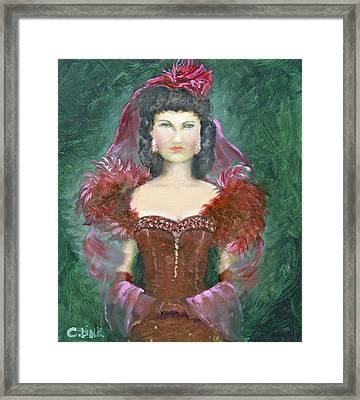 The Scarlet Dress Framed Print