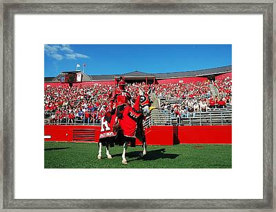 The Scarlet Knight And His Noble Steed Framed Print