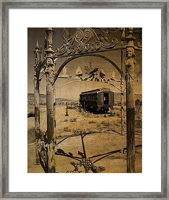 The Scarlet Lady Vintage Framed Print