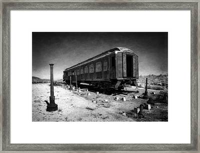 The Scarlet Lady In Darkness Framed Print