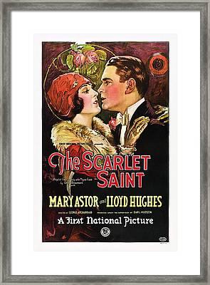 The Scarlet Saint, From Left Mary Framed Print by Everett