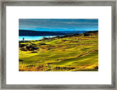 The Scenic Chambers Bay Golf Course - Location Of The 2015 U.s. Open Tournament Framed Print by David Patterson