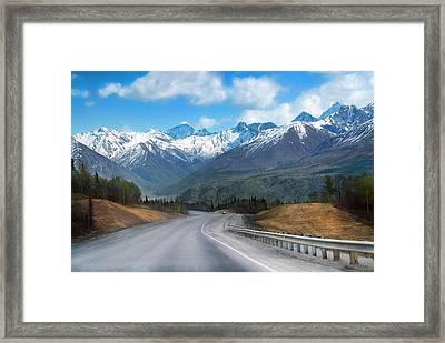 The Scenic Glenn Highway  Framed Print