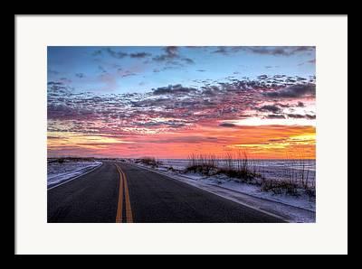 Florida Panhandle Sunset Framed Prints
