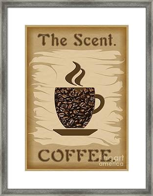 The Scent - Coffee Framed Print